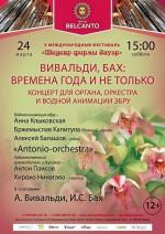 Концерт «Вивальди, Бах: Времена года и не только». Концерт для органа, оркестра и водной анимации-эбру