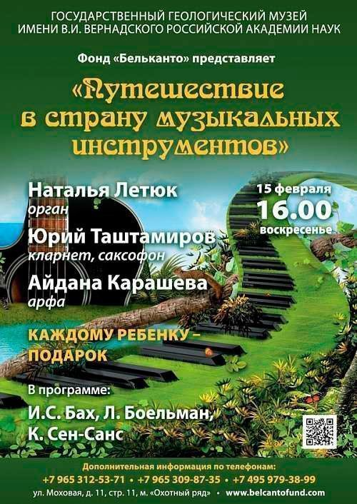 Концерт Путешествие в страну музыкальных инструментов