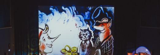 Концерт Сказка с органом и песочной анимацией «Приключения Буратино или Золотой ключик»